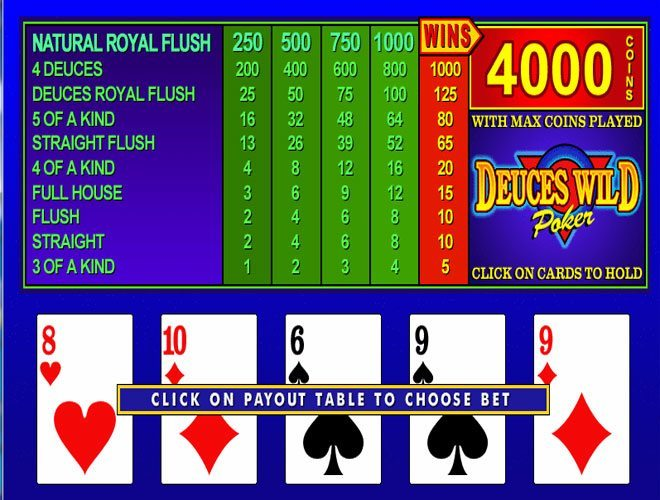 Play Deuces Wild Video Poker Online at Casino.com South Africa