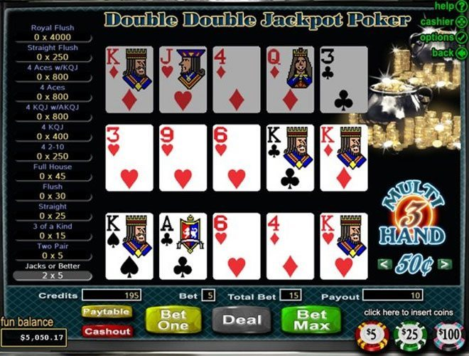 jackpot party casino online poker 4 of a kind