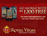 Generous Welcome Bonus at Royal Vegas Mobile Casino