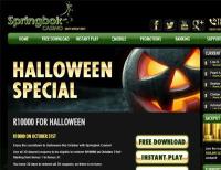 R1,331 Bonus Halloween Gift at Springbok Casino