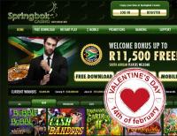 Springbok Casino Adds Extra Valentines Bonuses