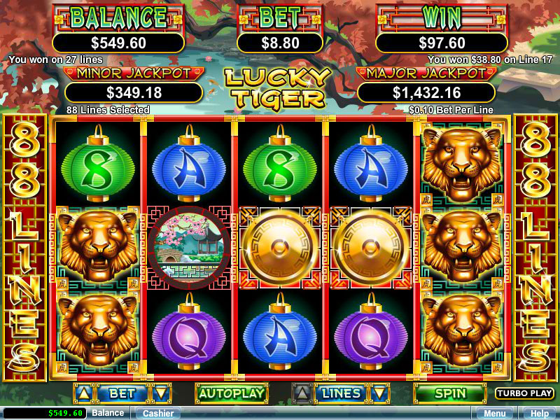 Video Slot - Lucky Tiger